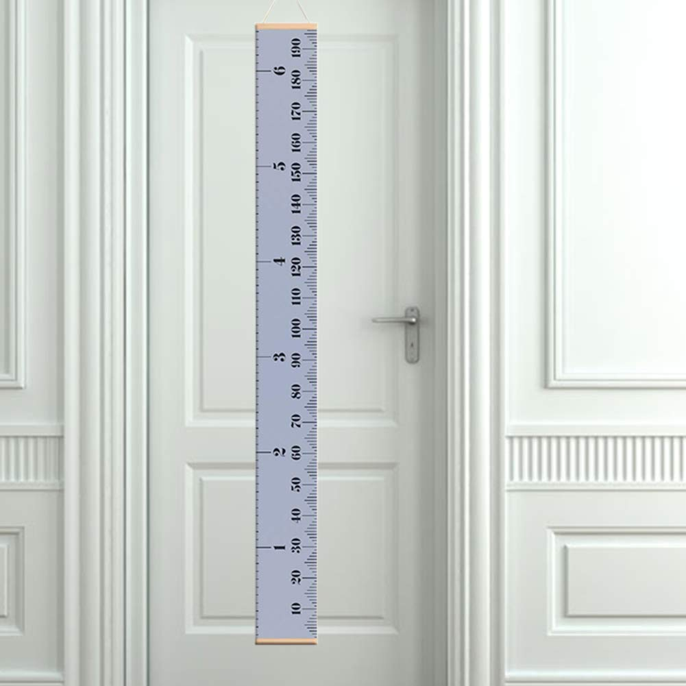 6.56ft Kids Height Growth Chart Ruler Removable Hanging Pictures Ruler Wall Decor for Childrens Room 79 x 7.9 Yugust Baby Growth Charts