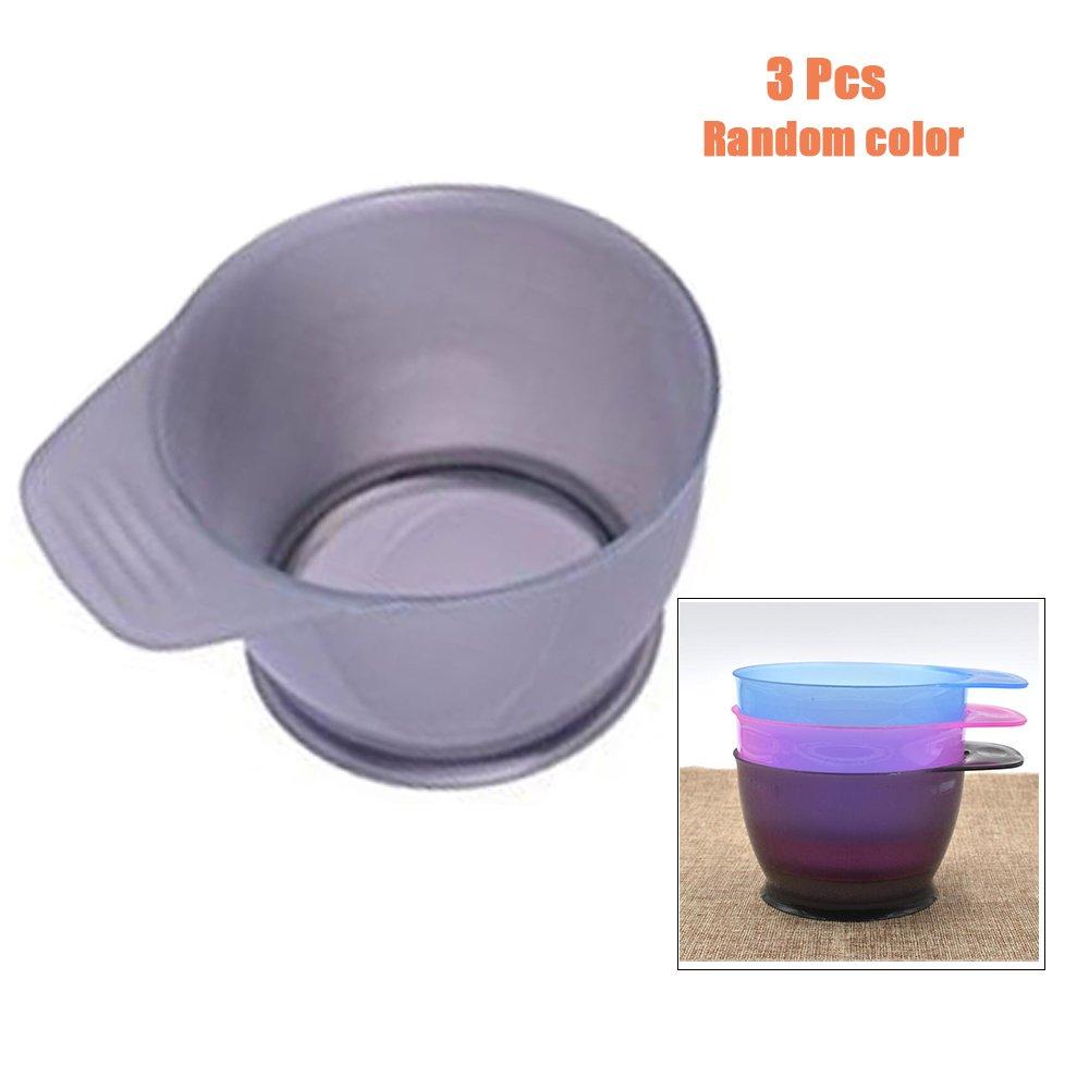 Garrelett 3 Pcs Hair Dye Bowl - DIY Hair Color Mixing Bowls / Salon Hairdresser Dye Tint Bowl with Handle (Random Color) by Garrelett