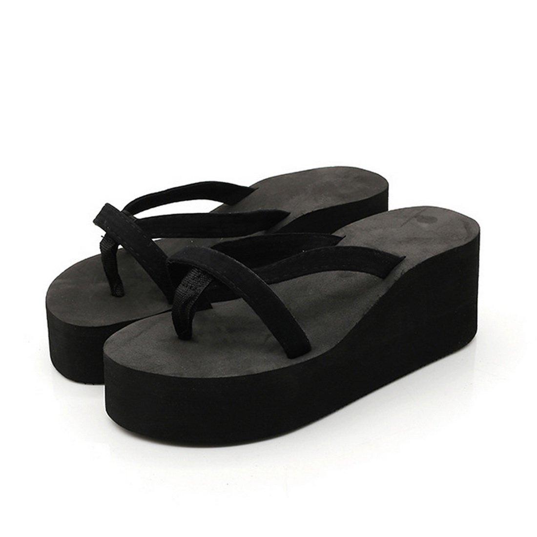 Dihope Femme Tongs /Ét/é Chaussons /à Talons Hauts Sandales Pantoufle Flip-Flop Clip Toe Shoes Mode Chaussures de Plage Compens/é pour Maison Vacances