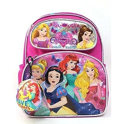 "well-wreapped Small Backpack - Disney Princess -Cinderella Belle Aurora Rapunzel 12"" 121471-2"