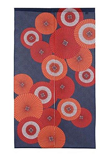 Made in Japan Noren Curtain Tapestry Japanese Umbrella Aggregate Design