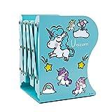 Jax & Olivia Unicorn Adjustable Bookends - Unicorn Decor - Kids Bookends - Girls Room - Unicorn Gifts (Teal)