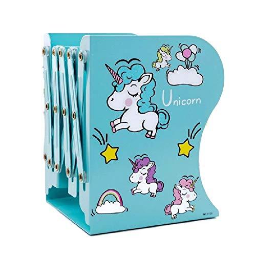 Home Decor Bookends (Jax & Olivia Unicorn Adjustable Bookends - Unicorn Decor - Kids Bookends - Girls Room - Unicorn Gifts (Teal))
