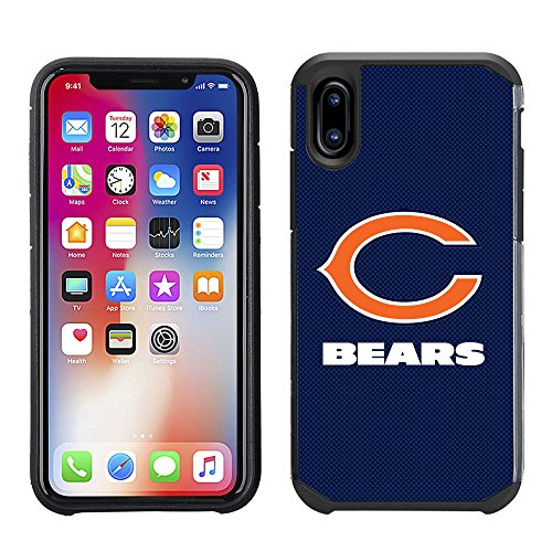 Prime Brands Group Cell Phone Case for Apple iPhone X - NFL Licensed Chicago Bears Textured Solid Color