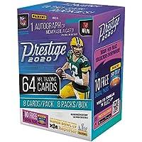 2020 Panini Prestige NFL Football BLASTER box (64 cards/bx incl. ONE Memorabilia or… photo