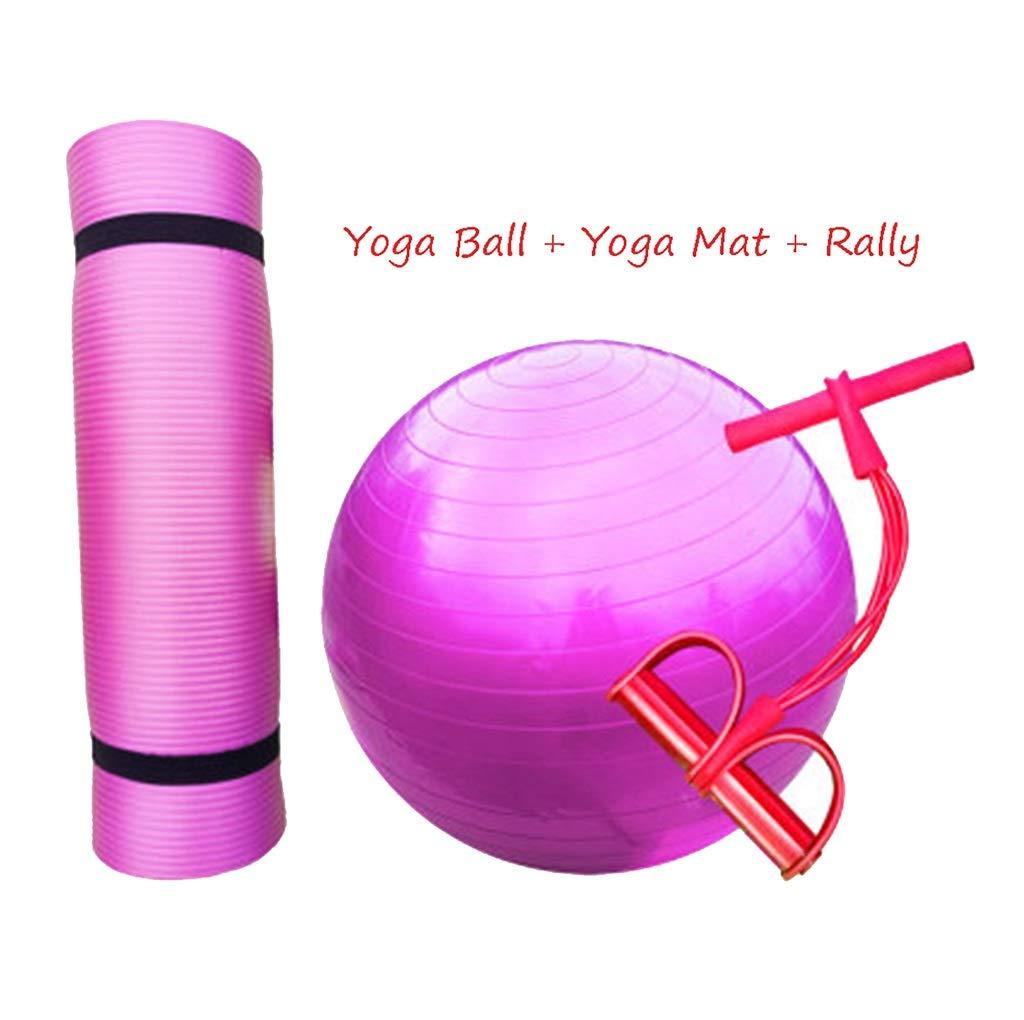 YJQZHL Yoga Ball + Yoga Mat + Rally, Pelota de Gimnasia para niños ...