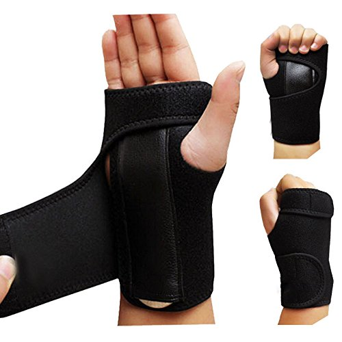 Bhbuy 1 Pair Hand Support Wrist Brace Splint For Sprain Carpal Tunnel Syndrome
