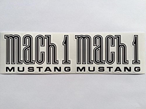 2 Ford Mustang Mach 1 Die Cut Decals