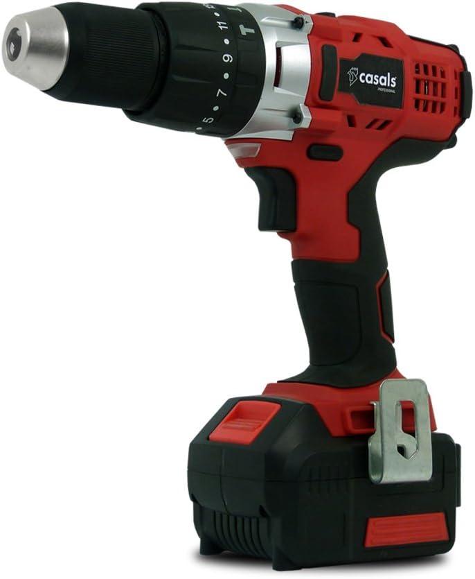 Casals C01256000 Taladro atornillador percutor, 1 W, 18 V