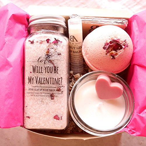 SHIP NEXT DAY Valentines Day Gifts for Her Rose Valentines Day Gift Chocolate, Spa Gifts for her ...