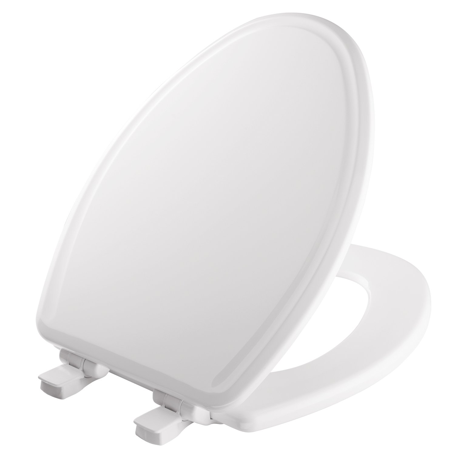 MAYFAIR Toilet Seat will Slow Close, Never Loosen and Easily Remove, ELONGATED, Durable Enameled Wood, White, 148SLOWA 000/1848SLOWA 000