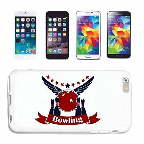 """cas de téléphone iPhone 7+ Plus """"Bowling skittles BOWLING BALL EVIL SMILEY CONE SOIR BOWLING SOIRÉE BOWLING DU TOURNOI"""" Hard Case Cover Téléphone Covers Smart Cover pour Apple iPhone en blanc"""