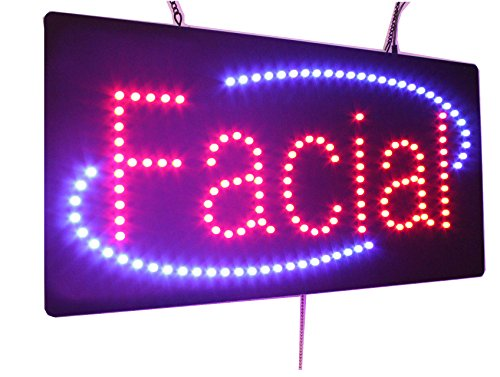 Topking LED Facial Sign, Super Bright LED Open Sign, Store Sign, Business Sign, Windows Sign