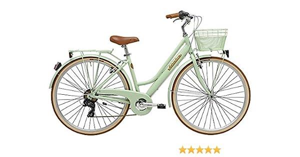 Adriatica - Bicicleta de ciudad para mujer de 28 pulgadas Sity Retro Lady, verde: Amazon.es: Deportes y aire libre