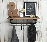 Industrial shelving, industrial shelf, shelving unit, wooden shelf, wall shelf rack, industrial décor, home décor