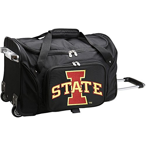 (NCAA Iowa State Cyclones Wheeled Duffle Bag )