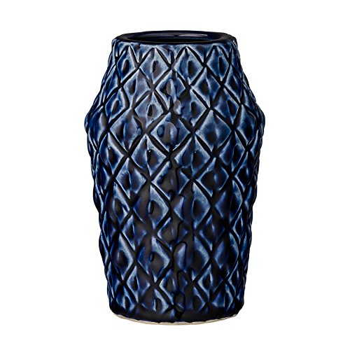 Bloomingville A27120013 Navy Patterned Ceramic Vase for $<!--$16.50-->