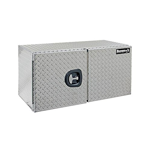 - Buyers Products Diamond Tread Aluminum Underbody Truck Box w/Barn Door (24x24x48 Inch)