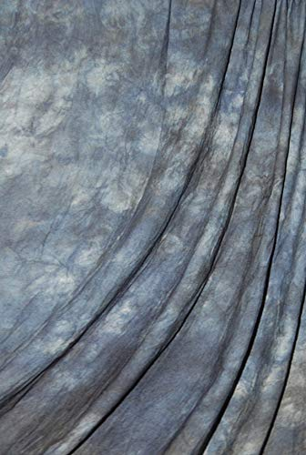 (Savage Crushed Muslin Background - Blue Winter, 10' W x 24' H)