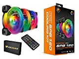 Cougar Hydraulic Vortex RGB SPB 120 mm PMW HDB Cooling Kit with addressable RGB Lighting, Core Box v2, Remote Controller and Three Vortex RGB SPB 120 Cooling Fans (3 Pack)
