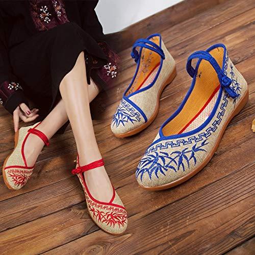 couleur Rouge Taille 40 Bleu Eu Qiusa Chaussures SZq56