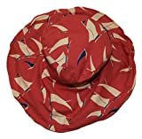 Ralph Lauren Polo Womens Italy Cotton Sun Beach Wide Brim Nautical Hat Red Navy