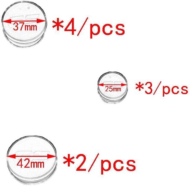 9 PCS Moto Cadre Plug Kit Protecteur Couvercle Trou Couvercle Cadre Bouchons D/écoratif Remplacement Couverture pour BMW R1200GS R1250GS Aventure 2017-2019