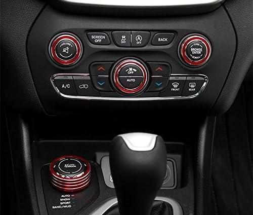HOTRIMWORLD Black Interior Center Console Air Condition Knob /& Headlight Knob Trim Cover 4pcs for Jeep Wrangler JL 2018-2019