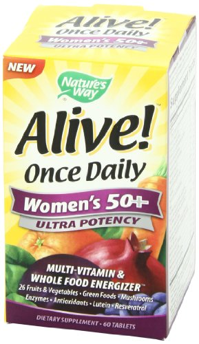 033674156926 - Nature's Way Alive! Once Daily Women's 50+ Ultra Potency Multi-Vitamin Supplement, 60 Tablets carousel main 7