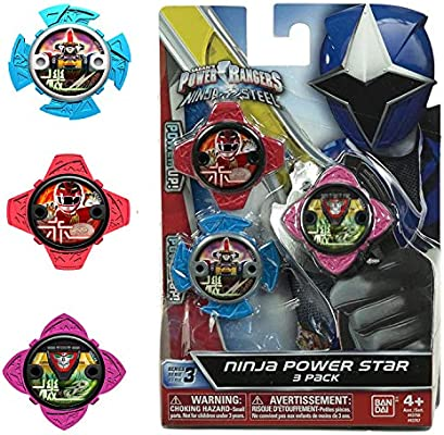 Power Rangers Pack de Estrellas 43750, Multicolor