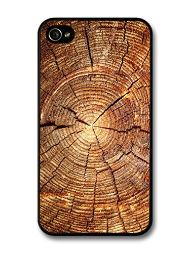 Tree Rings Wood Nature Natural Design case for iPhone 4 4S
