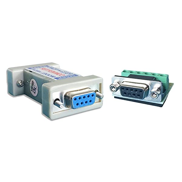 LFHUKEJI RS232 to RS485, RS-232 Female to RS-485/RS-422 485/422 Female Adapter Converter(Passive) (Color: Black&Blue)