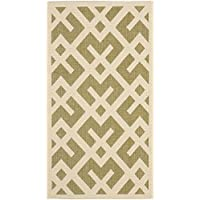Safavieh Courtyard Collection CY6915-234 Green and Bone Indoor/Outdoor Area Rug (2 x 37)