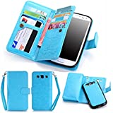 S3 Case, Galaxy S3 Case, LIBERWILL PU Leather [Wallet Features] Magnetic Detachable Wallet Case Flip Cover Credit...