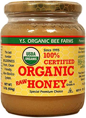 Ys Eco Bee Organic Honey 1 Pound Jar