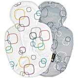 4moms rockaRoo and mamaRoo Infant Insert, for Baby, Infant, and Toddler, Machine Washable, Soft, Plush Fabric, Reversible Des