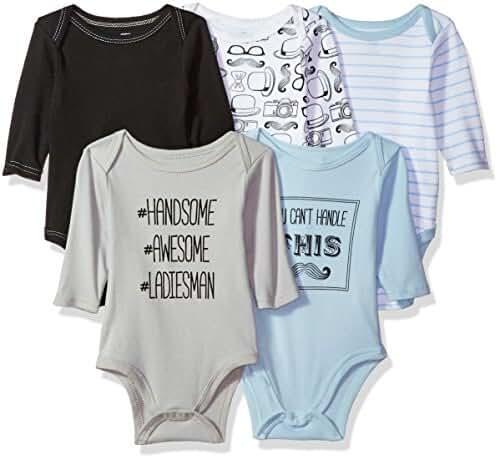 Hudson Baby Long Sleeve Bodysuits 5PK