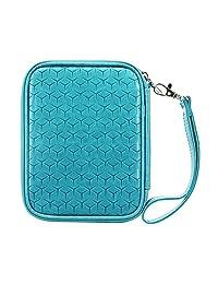 Boxiki Travel RFID - portafolios de pasaporte para hombre y mujer Accesorios de viaje y portadocumentos. portafolios antirrobo para tarjeta, pasaporte y más (azul cielo)