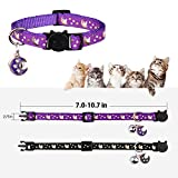 2PCS Breakaway Cats Collars with Bell Moons Stars