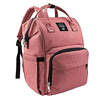 Baby Diaper Bag Backpack Water Resistant Wide Open Travel Backpack Newborn Nappy Bag Large Capacity for Boys Girls Mom Dad (burgundy)