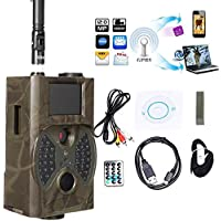 Trail Camera, 12MP HD 1080P Infrared Sensor Night Vision Scouting Camera, LCD Digital Wlidlife Camera for Game & Hunting [US Stock]