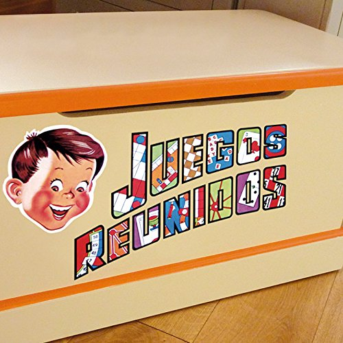 IDEAVINILO - Sticker sobre Juegos de Mesa Reunidos. Medidas: 28x31cm
