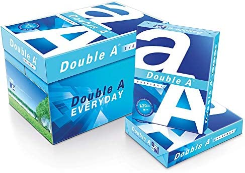 "Double A Everyday Copy and Multi-Use Paper, Letter Size (8 1/2"" x 11""), 96 (U.S.) Brightness, 20 Lb, Carton of 10 Reams"