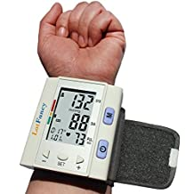 LotFancy FDA Approved Auto Digital Wrist Blood Pressure Monitor with Case,30x4 Memories, WHO Indicator,Irregular Heartbeat Detector,Last 3 Results Average