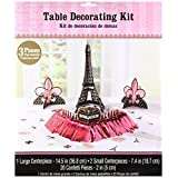Amscan 280058 Day in Paris Table Decorating Kit, One Size, Multicolor, 23ct