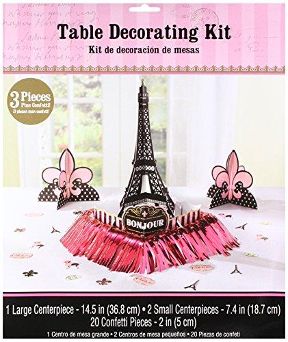 Amscan International–280058un dia en Paris Kit de decoracion de