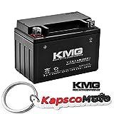 KMG YTZ14S Sealed Maintenance Free Battery High Performance 12V SMF OEM Replacement Powersport Motorcycle ATV Scooter + KapscoMoto Keychain