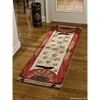 Park Designs Folk Crow Hooked Rug Runner, 24 x 72