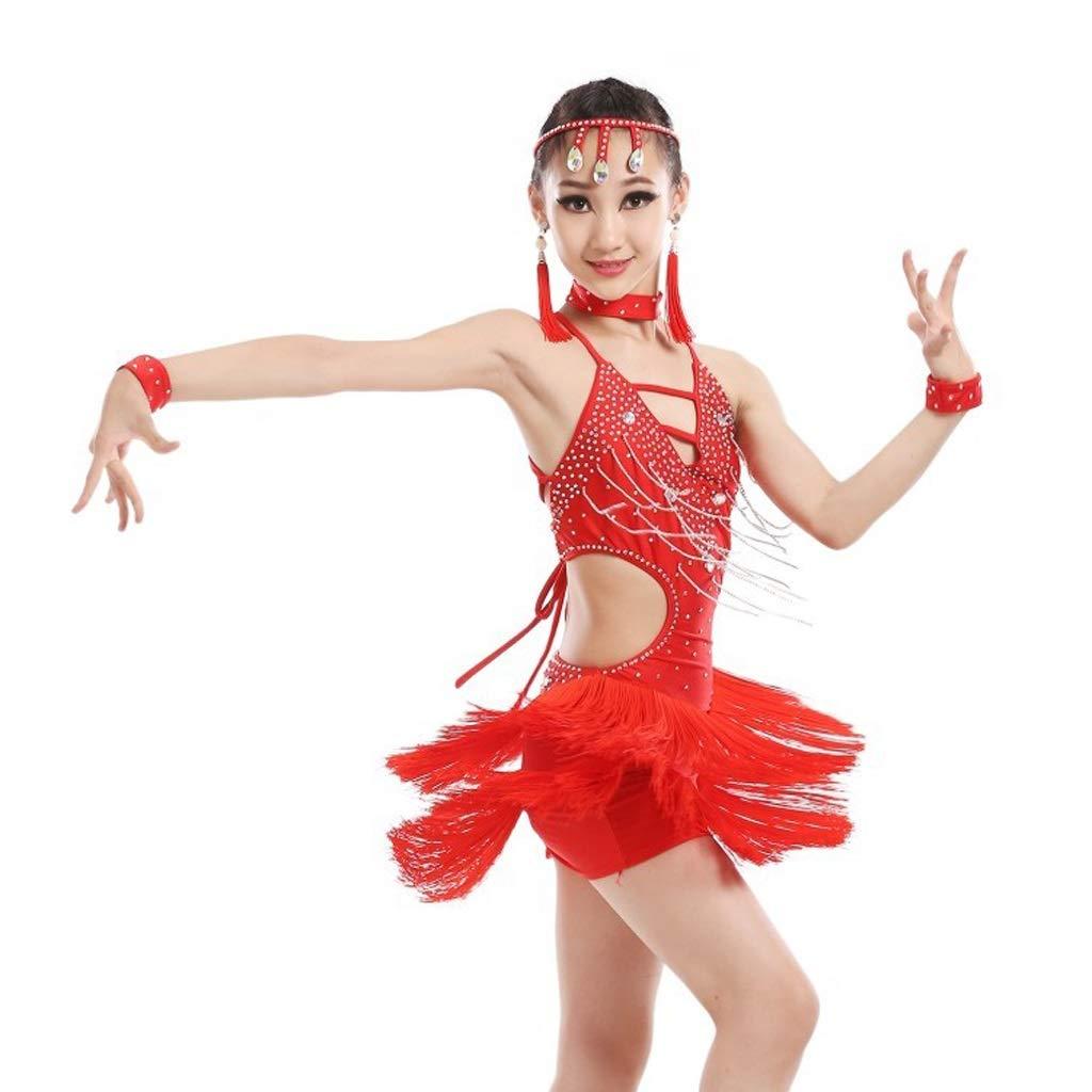 HEUFHU888 Tanzkostüm - Bright Diamond Fransed Latin Dance Kostüm-Übungswettbewerb Kostüm Tanzrock B07NMLJ9GF Bekleidung Karamell, sanft
