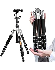 K&F CONCEPT TM2235 treppiede leggero completo in alluminio con testa di borsa Piastra Rapido liberazación treppiede viaggio per Canon Nikon Sony Sigma Fotocamera DSLR portatile